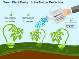 pptx Green Plant Design Bulbs Nature Protection Flat Powerpoint Design
