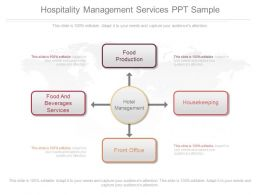 Pptx Hospitality Management Services Ppt Sample