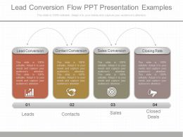 Pptx Lead Conversion Flow Ppt Presentation Examples