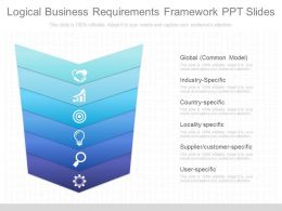 Pptx Logical Business Requirements Framework Ppt Slides