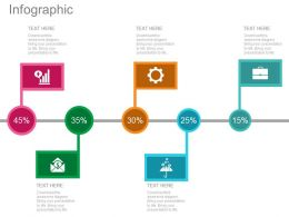 pptx Percentage Based Timeline For Financial Analysis Flat Powerpoint Design