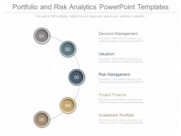 Pptx Portfolio And Risk Analytics Powerpoint Templates