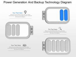 pptx Power Generation And Backup Technology Diagram Powerpoint Template