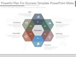 Pptx Powerful Plan For Success Template Powerpoint Slides