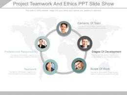 Pptx Project Teamwork And Ethics Ppt Slide Show