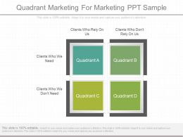 Pptx Quadrant Marketing For Marketing Ppt Sample