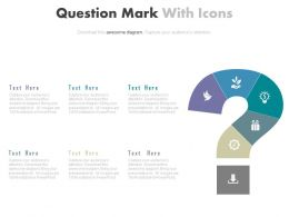 pptx Question Mark With Icons For Business Solutions Flat Powerpoint Design