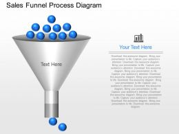 pptx Sales Funnel Process Diagram Powerpoint Template