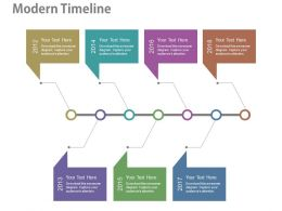pptx Seven Staged Year Based Timeline For Business Agenda Flat Powerpoint Design