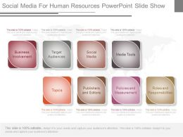 Pptx Social Media For Human Resources Powerpoint Slide Show