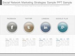 Pptx Social Network Marketing Strategies Sample Ppt Sample