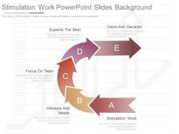 Pptx Stimulation Work Powerpoint Slides Background
