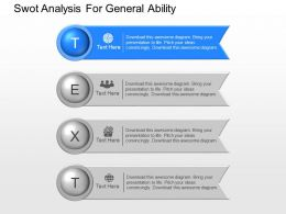 pptx Swot Analysis For General Ability Powerpoint Template