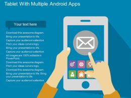 pptx Tablet With Multiple Android Apps Flat Powerpoint Design