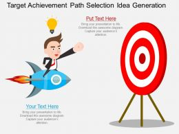 pptx Target Achievement Path Selection Idea Generation Flat Powerpoint Design