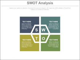 pptx Text Box For Swot Analysis For Business Flat Powerpoint Design