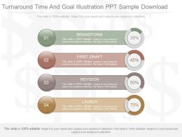 Pptx Turnaround Time And Goal Illustration Ppt Sample Download
