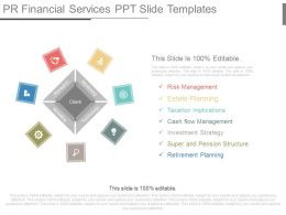 pr financial services ppt slide templates