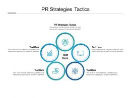 PR Strategies Tactics Ppt Powerpoint Presentation Outline Clipart Images Cpb