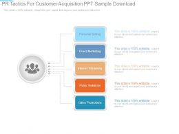 Pr Tactics For Customer Acquisition Ppt Sample Download