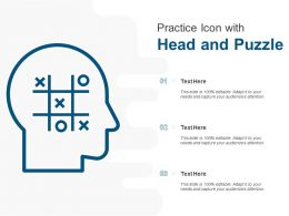 Practice Icon With Head And Puzzle