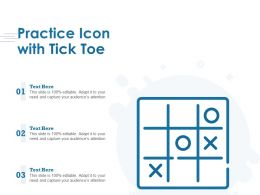 Practice Icon With Tick Tack Toe
