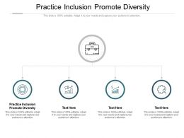 Practice Inclusion Promote Diversity Ppt Powerpoint Presentation Outline Information Cpb