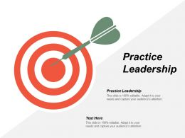 Practice Leadership Ppt Powerpoint Presentation Icon Professional Cpb