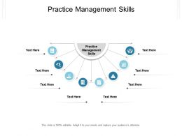Practice Management Skills Ppt Powerpoint Presentation Model Structure Cpb