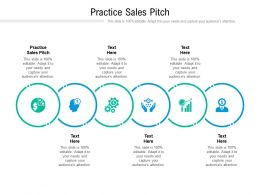 Practice Sales Pitch Ppt Powerpoint Presentation Show Topics Cpb