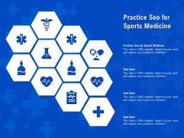 Practice Seo For Sports Medicine Ppt Powerpoint Presentation Pictures Ideas