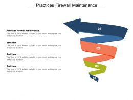 Practices Firewall Maintenance Ppt Powerpoint Presentation Outline Maker Cpb