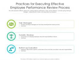 Practices For Executing Effective Employee Performance Review Process