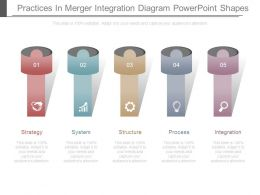 Practices In Merger Integration Diagram Powerpoint Shapes
