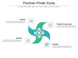 Practices Private Equity Ppt Powerpoint Presentation Slides Files Cpb