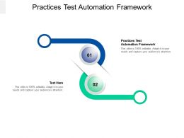 Practices Test Automation Framework Ppt Powerpoint Presentation File Rules Cpb