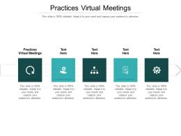 Practices Virtual Meetings Ppt Powerpoint Presentation Gallery Background Images Cpb
