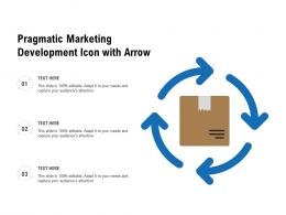 Pragmatic Marketing Development Icon With Arrow