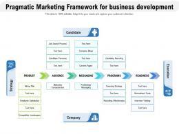 Pragmatic Marketing Framework For Business Development
