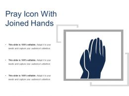Pray Icon With Joined Hands1
