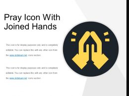 Pray Icon With Joined Hands