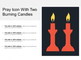 Pray Icon With Two Burning Candles