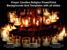 Prayer Candles Religion Powerpoint Backgrounds And Templates With All Slides