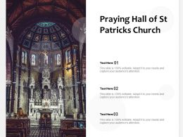 Praying Hall Of St Patricks Church