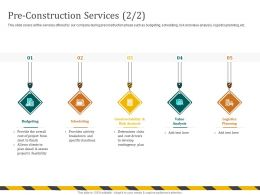 Pre Construction Services Assess M703 Ppt Powerpoint Presentation Ideas Layouts
