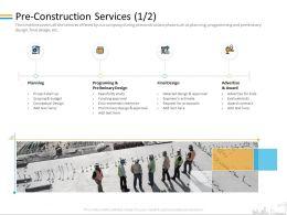 Pre Construction Services Bids M2091 Ppt Powerpoint Presentation Professional Graphics Pictures