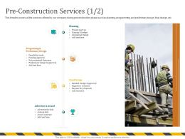 Pre Construction Services Estimate M702 Ppt Powerpoint Presentation Ideas Outline