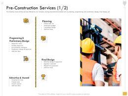 Pre Construction Services For Proposals Ppt Powerpoint Presentation Portfolio Influencers