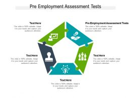 Pre Employment Assessment Tests Ppt Powerpoint Presentation Infographic Template Cpb