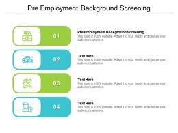 Pre Employment Background Screening Ppt Powerpoint Presentation Portfolio Inspiration Cpb